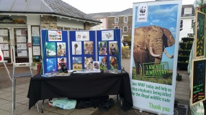 One of our WWF recruitment stands