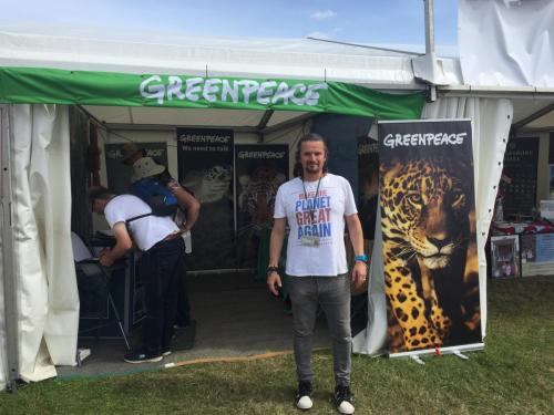 Fundraising for Greenpeace at BBC Countryfile Live - August 2017