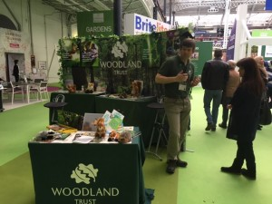 Fundraising for The Woodland Trust at the Ideal Home Show – March 2017